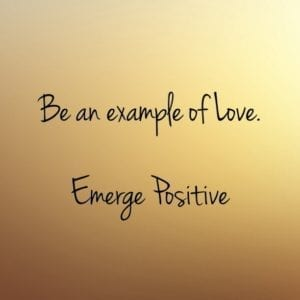 Be an example of Love