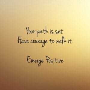 your path is set