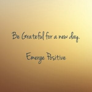 grateful for a new day