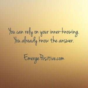 rely on inner-knowing