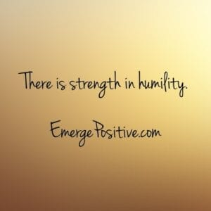 strength in humility