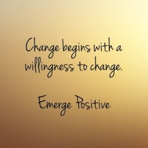 a willingness to change