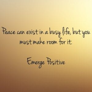 make room for peace