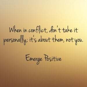 conflict is personal