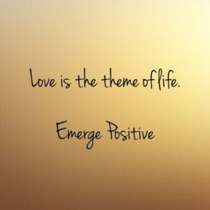love is the theme of life