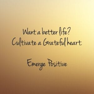 cultivate a grateful heart