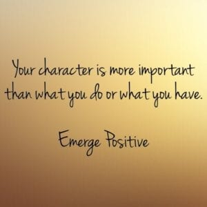 character is important
