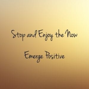 Stop and Enjoy the Now