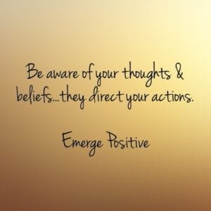 thoughts, beliefs, actions