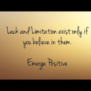 lack & limitation only exist in thought