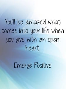 give with an open heart