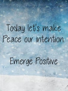 make peace our intention