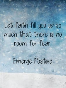 let faith fill you up