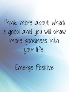 Think more about what is good