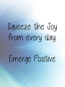 Squeeze the joy out
