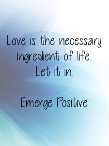 Love is the necessary ingredient
