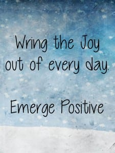 Wring the joy out of every day