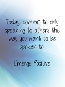 Speaking to others