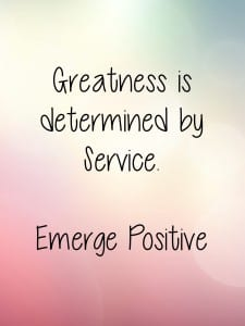 Greatness determined by service